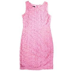 Talbots Pink Garden Lace Sheath Dress 2